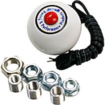 B&M 46112 Shift Knob - White, Plastic, Universal, Sold individually
