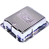 B&M 70289 Transmission Pan - Chrome, Steel, Deep, Direct Fit, Sold individually