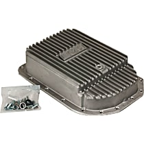 B&M 70295 Transmission Pan - Natural, Cast Aluminum, Deep, Direct Fit, Sold individually