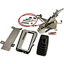 B&M Console Megashifter 80694 Shifter - Satin finished aluminum handle, Aluminum, Automatic, May Require Minor Modification, Kit