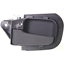 Front, Driver Side Interior Door Handle, Textured Black