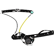 Front, Passenger Side Power Window Regulator, With Motor, Sedan/Wagon, Fits: BMW E46