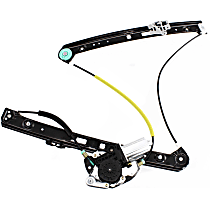 Front, Driver Side Power Window Regulator, With Motor, Sedan/Wagon, Fits: BMW E46