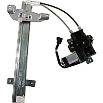 Rear, Passenger Side Power Window Regulator, With Motor