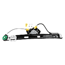 Rear, Passenger Side Power Window Regulator, Without Motor - Sedan