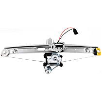 Rear, Driver Side Power Window Regulator, With Motor - Sedan