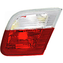 Passenger Side, Inner Tail Light, Without bulb(s) - Clear & Red Lens, Conv/Coupe, To 3-03