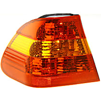 Driver Side, Outer Tail Light, Without bulb(s) - Amber & Red Lens, Sedan
