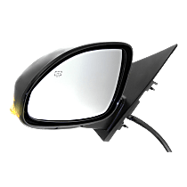 Mirror Power Folding - Driver Side, In-housing Signal Light, Paintable