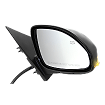 Mirror Power Folding - Passenger Side, In-housing Signal Light, Paintable