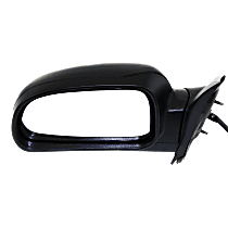 Mirror Manual Folding Heated - Driver Side, Power Glass, In-housing Signal Light, Textured Black