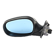 Mirror - Driver Side, Power, Heated, Manual Folding, Paintable, With Blue Glass, For Wagon