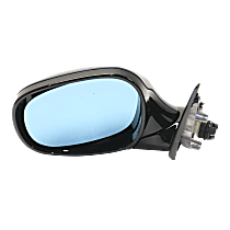 Mirror - Driver Side, Power, Heated, Manual Folding, Paintable, With Blue Glass, For Wagon, Models With Shadow Line