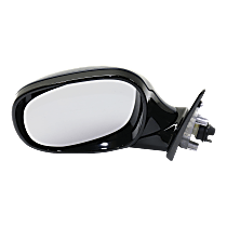 Mirror - Driver Side, Power, Heated, Manual Folding, Paintable, For Wagon, Models With Shadow Line