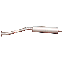 Bosal 163-741 Resonator - Natural, Aluminized Steel, Direct Fit, Sold individually