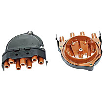 03195 Distributor Cap - Black, Direct Fit, Sold individually