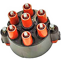 03202 Distributor Cap - Black, Direct Fit, Sold individually