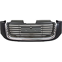 Grille Assembly - Painted Black Shell with Painted Gray Insert