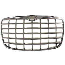 Grille Assembly - Chrome Shell with Painted Silver Insert, Engine Code MF5