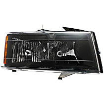 Passenger Side Headlight, With Bulb(s) - Models Without Xtreme Edition Package, Clear Lens, Black Interior