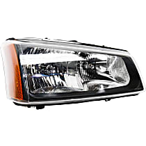 Passenger Side Headlight, With bulb(s) - With Fluted Reflector