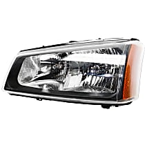 Driver Side Headlight, With bulb(s) - With Fluted Reflector
