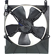 OE Replacement Radiator Fan - w/ Factory Air, Driver Side