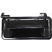 Exterior Door Handle, Smooth Black Front or Rear, Passenger Side