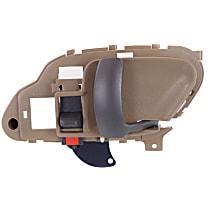 Interior Door Handle, Beige bezel with primed lever Front or Rear, Passenger Side