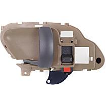 Interior Door Handle, Beige bezel with primed lever Front, Driver Side