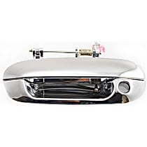 Front, Driver Side Exterior Door Handle, Chrome