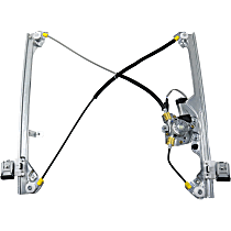 Front, Driver Side Power Window Regulator, With Motor, Crew Cab