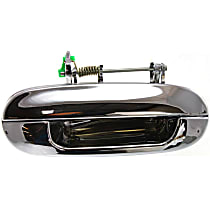 Rear, Passenger Side Exterior Door Handle, Chrome