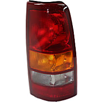 Passenger Side Tail Light, Without bulb(s) - Amber, Clear & Red Lens, Fleetside