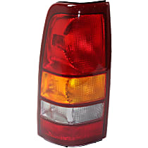 Driver Side Tail Light, Without bulb(s) - Amber, Clear & Red Lens, Fleetside