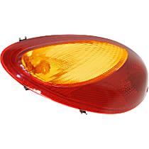 Driver Side Tail Light, With bulb(s) - Amber & Red Lens