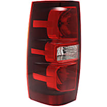 Driver Side Tail Light, With bulb(s) - Clear & Red Lens, Exc. Hybrid Model