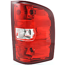 Passenger Side Tail Light, With bulb(s) - Clear & Red Lens, Exc. 2007 Classic Models