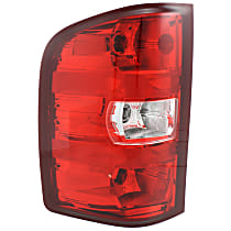 Driver Side Tail Light, With bulb(s) - Clear & Red Lens, Exc. 2007 Classic Models