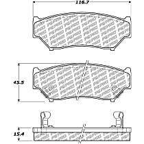 Centric PQ Pro Front Brake Pad Set