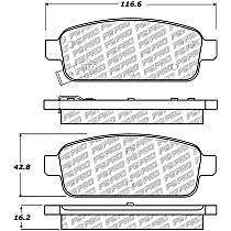 500.14680 Centric PQ Pro Rear Brake Pad Set