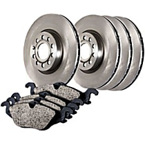 905.33100 Centric Select Axle Pack Front And Rear Brake Disc and Pad Kit, 4-Wheel Set