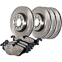 Centric Select Axle Pack Front And Rear Brake Disc and Pad Kit, 4-Wheel Set