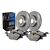 908.51016 Centric Select Axle Pack Front Brake Disc and Pad Kit, 2-Wheel Set
