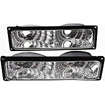 Diamond Design, Driver and Passenger Side Turn Signal Light, Without bulb(s)