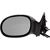 Mirror - Driver Side, Power, Textured Black, For Sedan