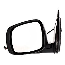 Mirror Manual Folding Heated - Driver Side, Power Glass, 2 Caps - Paintable & Textured Black