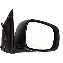 Mirror Manual Folding Heated - Passenger Side, Power Glass, 2 Caps - Paintable & Textured Black