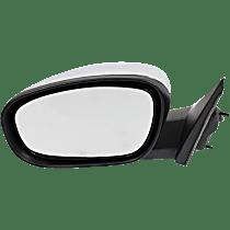 Mirror Manual Folding Heated - Driver Side, Power Glass, Chrome