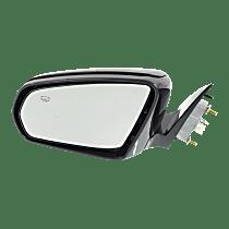Mirror - Driver Side, Power, Heated, Power Folding, Paintable, For Sedan